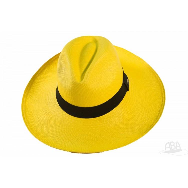 37fd065bcfff3 Alon - Chapéu Panamá aba larga - Amarelo