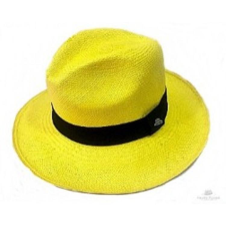bf57f47f6af5a Clássico - Chapéu Panamá Colorido - Amarelo