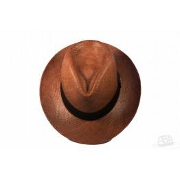 Clássico - Chapéu Panamá Colorido - Marrom 16b04c83331