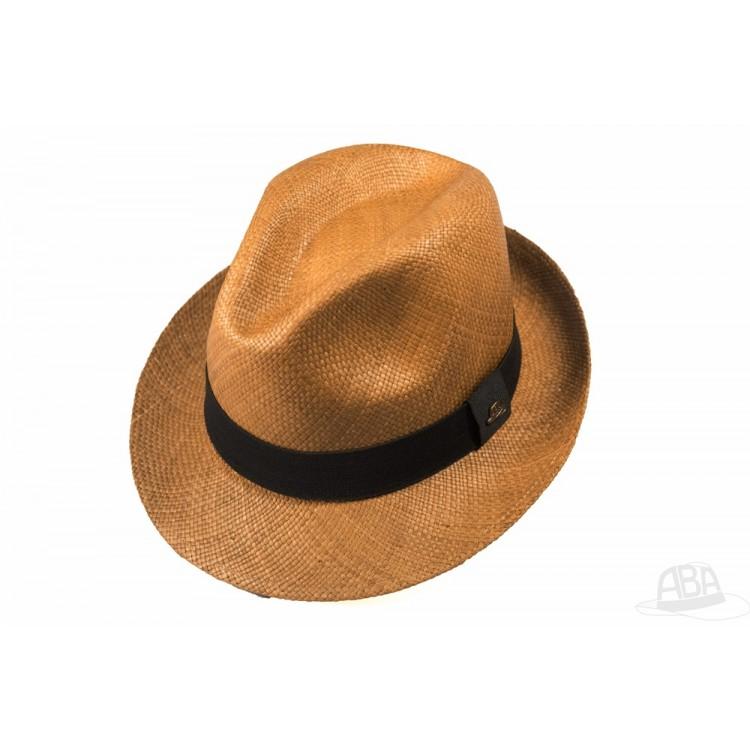 d98eb4e0ec769 Clássico - Chapéu Panamá Aba Curta Dark