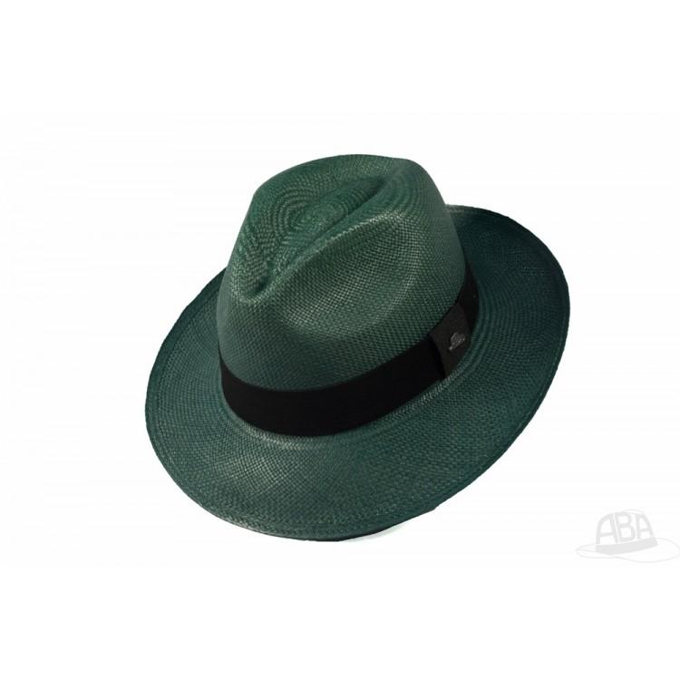 5a23553de9546 Clássico - Chapéu Panamá Colorido - Verde Escuro