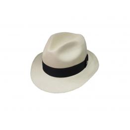 Clássico - Chapéu Panamá Super Fino Fedora - Natural f8d4af8654f